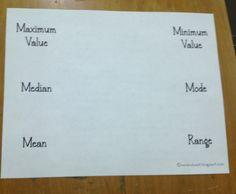Mean, Median, Mode, Range Foldable as seen on Fifth Grade Flock  www.fifthgradeflo...