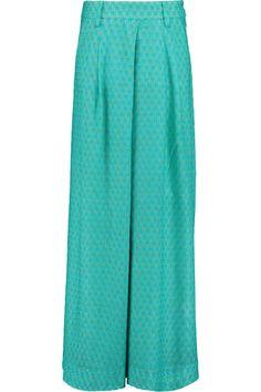 MISSONI Pleated crochet-knit wide-leg pants. #missoni #cloth #pants