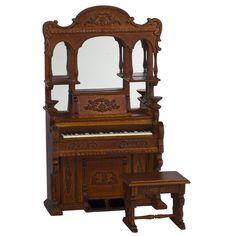 Dollhouse Miniature Tarvine Estates Upright Piano