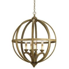 A large, 4 light urban wood sphere in a chestnut hue.  A great way to stay natural and stylish.