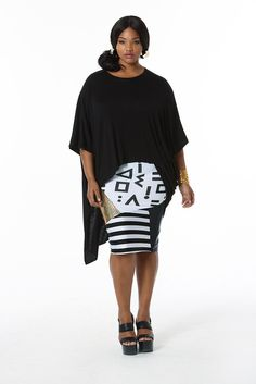 Point Guard Skirt & Black Lovey Tee (http://www.madisonplusselect.com/collections/tops/products/black-lovely-tee)
