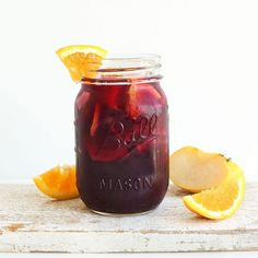 Easy Traditional Red Sangria Recipe Beverages, Cocktails with apples, orange rind, brown sugar, organic cane sugar, orange juice, brandy, red wine, ice