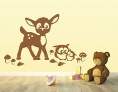 1000 images about lebendig on pinterest deko haken and for Wandtattoo kinderzimmer waldtiere