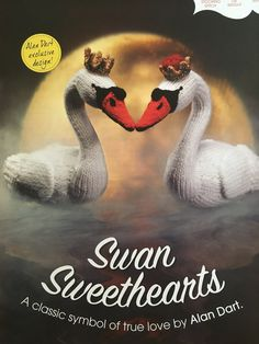 Excited to share the latest addition to my #etsy shop: Alan Dart's Swan Sweethearts Knitting Pattern Knitting Humor, Knitting Books, Knitting Projects, Knitting Patterns, Simply Knitting, Simply Crochet, Swan Love, Soft Heart, Knitting Magazine