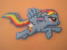 Rainbow dash Hama beads
