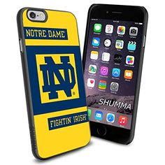 """Notre Dame Fighting Irish iPhone 6 4.7"""" Case Cover Protector for iPhone 6 TPU Rubber Case SHUMMA http://www.amazon.com/dp/B00UPJZCX6/ref=cm_sw_r_pi_dp_NJ1bwb0ZX701R"""