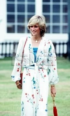 Diana wearing one of her honeymoon outfits