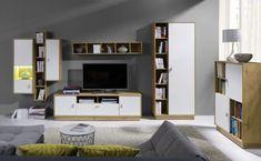 Meble Paris – zestaw 2 Bookcase, Flat Screen, Shelves, Home Decor, Living Room, Furniture For Living Room, Living Furniture, Parisian, Small Condo