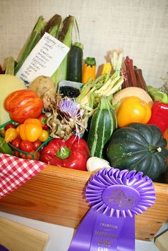 The Maryland State Fair is a great showcase for the best of our local fruits and vegetables.