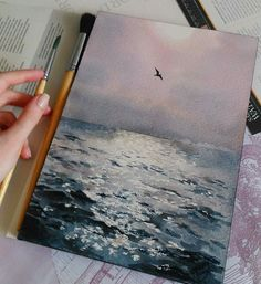 Some peaceful painting inspiration for your day! Painting Inspiration, Art Inspo, Art Et Design, Wow Art, Art Hoe, Pretty Art, Oeuvre D'art, Watercolor Paintings, Watercolour