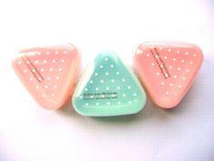 Cute Onigiri Bento Box Case Light Pink Green Polka Dots 3 In The Pack Mini Size
