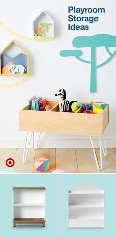 Kids' Bookcases : Target Create an organized playroom with tidy storage ideas like shelves & bins for toys, art & supplies. Kids Room Organization, Playroom Organization, Organized Playroom, Playroom Ideas, Organizing, Play Spaces, Kid Spaces, Girl Room, Girls Bedroom