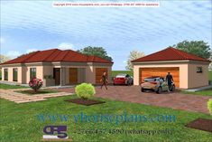 Overall Dimensions- x mBathrooms- 3 Car GarageArea- Square meters Building Costs, Architectural House Plans, Bungalow House Design, Contemporary House Plans, Square Meter, Home Collections, All Design, Bedrooms, Houses