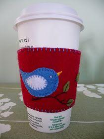 A Felt Coffee Cozy