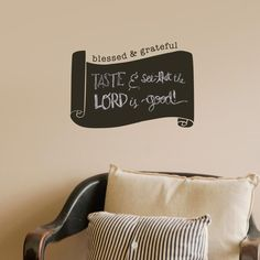 Blessed & Grateful - Chalkboard Vinyl Wall Art