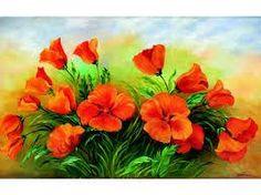 Resultado de imagem para flores pintadas em telas
