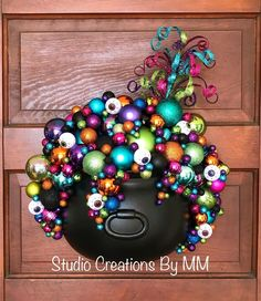 Excited to share this item from my shop: Whimsical Witch Cauldron, Cauldron Wreath, Halloween Decor, Cauldron Door Hanger, Witch Cauldron Fröhliches Halloween, Adornos Halloween, Manualidades Halloween, Holidays Halloween, Halloween Treats, Halloween Bedroom, Halloween Potions, Whimsical Halloween, Halloween Kitchen