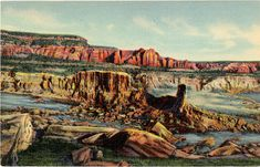 Vintage Arizona postcard of the Mammoth Rock Formation on the New Mexico/Arizona state line.