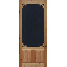 """- 1-3/8 in. thick F/J Cedar wood - Black fiberglass screen inserts (glass inserts sold separately) - Door size is 1/4"""" scant on width and height - Hardware not included."""