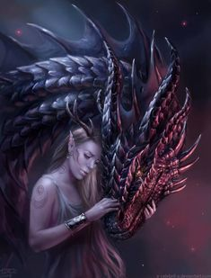 Art by x-Celebril-x Fantasy Art Village Social Network for Fantasy, Pinup, and Erotic Art Lovers! Beautiful Dragon, Beautiful Fantasy Art, Dark Fantasy Art, Fantasy Artwork, Romance Paranormal, Dragon Girl, Female Dragon, Dragon Artwork, Mythical Creatures Art