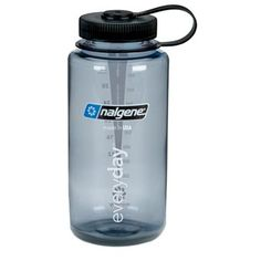 Grey with Black Lid Nalgene 32 oz. Wide Mouth Bottle- Vermont's Barre Army Navy