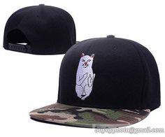 Best New Men Ripndip Nermal Rip N Dip Cute Cat Fashion Seller Snapback Hat  Black Camo cf695d7244d