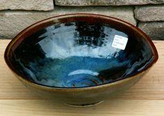 Colm de Ris Pottery off shape bowl, click on image to enlarge