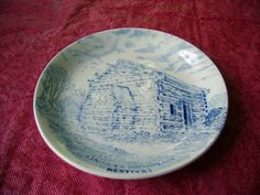 Vintage 3 1 2 in Lincolns Birthplace Cabin Kentucky Plate Staffordshire | eBay