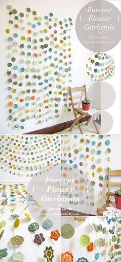 cortinas con flores a crochet desde RUBY KITSCH