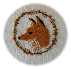 Fox embroidery.