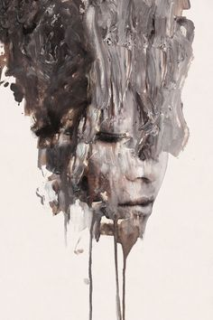 Januz Miralles (painting onto photographs) A Level Art, Matte Painting, Portrait Art, Sculpture, Artist Art, Art Inspo, New Art, Contemporary Art, Art Gallery