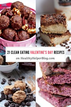 21 Clean Eating Recipes for Valentine's Day | Healthy Helper @Healthy_Helper The ultimate roundup of healthy, whole food desserts for Valentine's Day! All made with wholesome, real food ingredients, these decadent treats taste amazing and are GOOD for you. Don't feel bad about eating ALL THE DESSERTS this Valentine's Day!