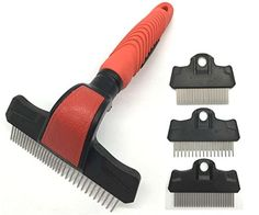 KUDI Pet Grooming Brushes, Pet Rakes, Pet Combs, Deshedding Tools 4 in 1 Kit for Small, Medium and Large Dogs and Cats * You can get additional details at the image link.