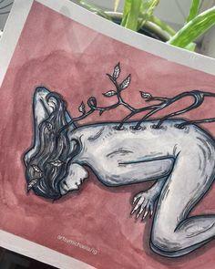 "michaela ☔️ | aspiring artist on Instagram: """"growing"" 🌱 a mixed media piece i made the same night as the ""disappearing"" one"" Mixed Media, My Arts, Night, Artwork, Artist, Animals, Instagram, Death, Work Of Art"