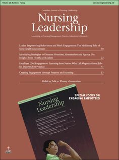 Nursing Leadership Vol. 28, No. 3, 2015 :: Longwoods.com