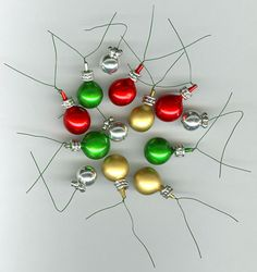 Use craft store berries and beads to make ornaments
