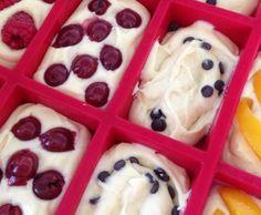 Rezept Rührkuchen Ruck-Zuck mit Obst für die 9er Tchibo Form von Allium - Rezept der Kategorie Backen süß