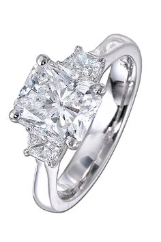 Radiant-Cut Diamond Engagement Ring