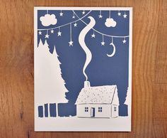 Winter House Cut Paper