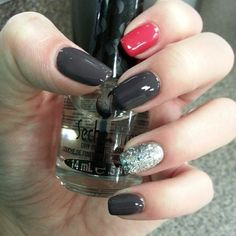 Grey, Pink Glitter Nails Pictures, Photos, and Images for Facebook, Tumblr, Pinterest, and Twitter