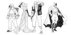 1920's Batman Characters by Ted Naifeh