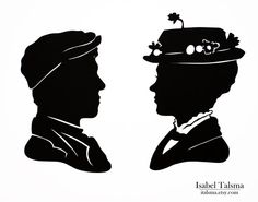 Would love to see these in the Disneyland silhouette frames.- Mary Poppins (Mary and Bert) Disney Paper Silhouettes.
