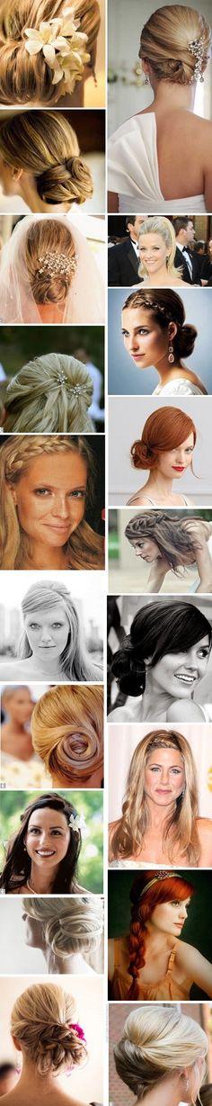 coiffures mariée cheveux raides