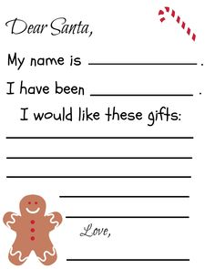 Free printable Santa Letter for your little ones.