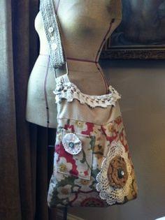 Handmade shabby purse
