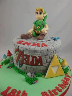 10 legend of zelda cakes for indulgent Birthday Cake Card, Themed Birthday Cakes, Birthday Cake Toppers, Wedding Cake Toppers, Cake Wedding, Gold Wedding, Fondant Cakes, Cupcake Cakes, Baby Cakes