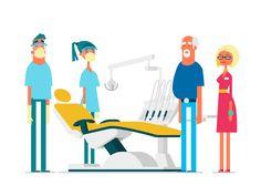 At the dentist by Csaba Khilenberg