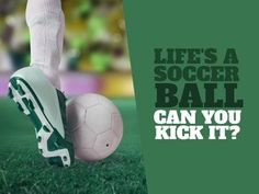 A green funny Football template with an image of a foot kicking a ball. A Funny, Hilarious, Football Template, Funny Football, Soccer Ball, Kicks, Funny Quotes, Jokes, Templates