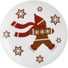 "Gingerbread Man 7"" Plate in Winter Clearance Sale 