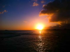 Sunset from Magic Island #gohawaii #oahu #travel #alohafriday